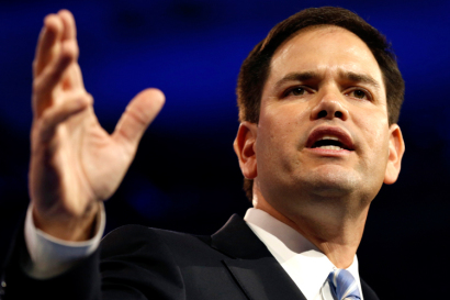 Senator Rubio of Florida speaks at the Conservative Political Action Conference at National Harbor, Marylan